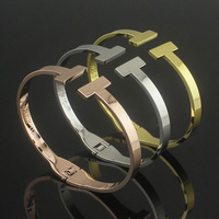 Titanium steel jewelry wholesale double spring Bangles women bracelet rose gold bracelet Gold