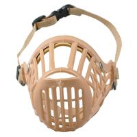 Plastic Basket Dog Muzzle Comfortable For Dog Various Sizes Tan Color No Bite No Barking