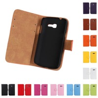 New Arrival Genuine Leather Case for Samsung Galaxy Trend Lite S7390 S7392 With Credit Card Slots & Stand Fuction Free ship