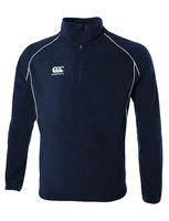 2015 Canterbury childeren new arrival /4 zip zipper fleece sweatshirt stand collar pullover black /dk blue  size 6/8/10/12/14