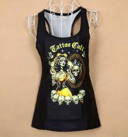 Hot Sale women clothing 3d skeleton tshirt women woman shirt summer american apparel Dropshipping  XY038