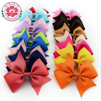 20pcs/lot 4'' Girls' Hair Accessories Baby Boutique HairBows/Hairclips, Grosgrain Ribbon Pinwheel Hair Bows for Headband 565