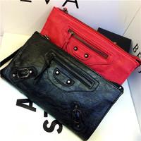 Woman Bags Fashion 2014 Designers Vintage Motorcycle Bag Women Leather Shoulder Bag Women's Messenger Bag