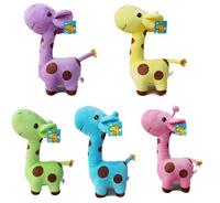 18cm lovely baby boys girls toy kids Giraffe Deer Soft Plush Toy children Animal Dolls Free Shipping