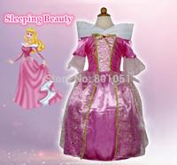 OISK Sleeping Beauty Costumes Princess Aurora Kids Girl Party Dress Anime Cosplay Performance clothing Halloween Costume