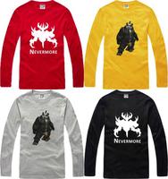 Men's Clothing Tops Tees 100% Cotton World Of Warcraft Casual T Shirt Full Sleeves Blizzard Dota  Mists of Pandaria Panda Leah