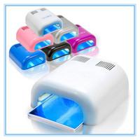 36W Art Acrylic UV Nail Lamp Curing Light Gel Polish Dryer With Timer + 4 Bulbs