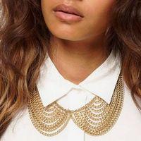 Min Order $10 Free Shipping fashion multi-layer tassel chain collar Necklaces & Pendants MXIUX Jewelry Accessories Women X078