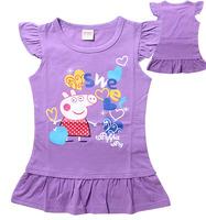 Free shipping ,2015 new Children's wear short-sleeved T-shirt dresses of the girls,tutu dress,girlsdress 6pcs/lot