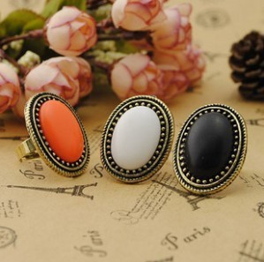 2014 Hot Selling European Style Personalized Vintage Oval Gem Retro Ring for Women Aneis Femininos Fashion Jewelry Wholesale(China (Mainland))