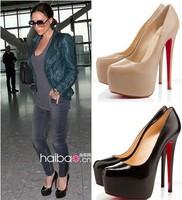 Red sole shoes pumps women high heels thin heel pumps platform shoes women genuine lether brand pumps nude color pumps women