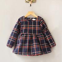 New 2014 girls dress baby & kids girl dress  casual plaid thick tutu dress child vestidos de menina dresses