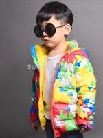 Joy Chang's Kids winter warm colorful down jacket children's hooded parka snowwear, 110-150 7 colors retail