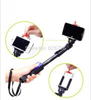 Free Shipping + New Style Yun Teng 1288 Selfie Stick Buletooth Monopod Tripod + Phone Holder for iPhone 6 Gopro Hero Camera HD