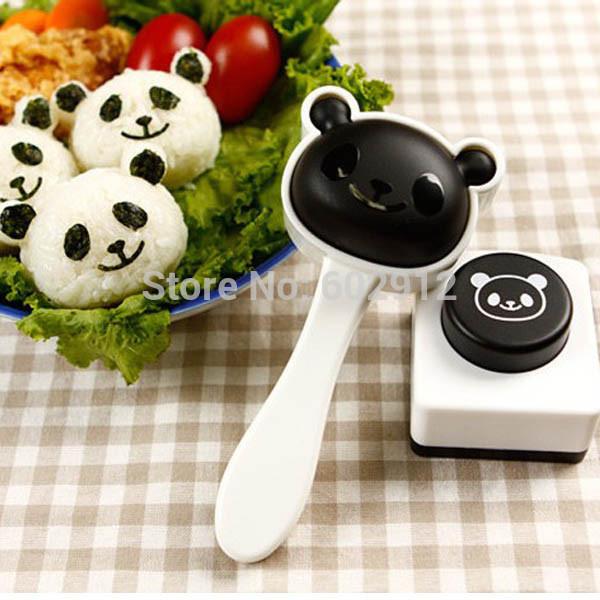 Cute Panda Homemade Sushi Mold Rice Ball Onigiri Mould Nori DIY Japanese Sushi Maker Bento(China (Mainland))
