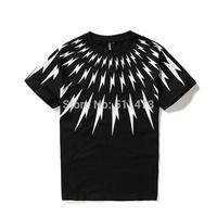2015 cool new Hip hop NeIL Barre style bunches Lightning black cotton Short sleeve t-shirt