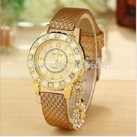 10pcs lot NEW Golden Watch Women Swan Charm wristwatch Woman Quartz Fashion Watch wholesale