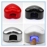 0.5w Portable Mini Nail Art LED Lamp Manicure Gel Curing Dryer Mini Heart Shaped Nail Dryer