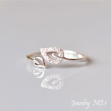 Rings Ring Vintage Lord Of The Sterling Silver Jewelry 925 For Women Anel Leaf Leaves Love