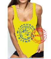 Hot Sell New 2015  Women bodybuilding Clothes Fashion gymshark Gym Tank top T Shirt  fitness  sports cotton vest