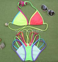 European and American big sexy bikini swimsuit rainbow casual dress beach