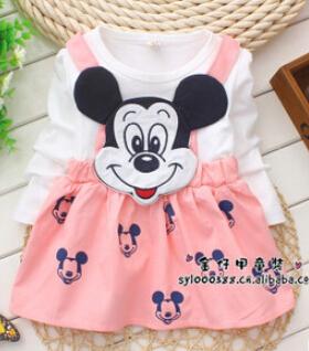 Princess Dresses& kids summer Girl Dress girls' Clothing Minnie Dresses(China (Mainland))