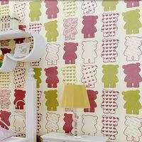 2015 new style environmental healthy non-woven wallpaper warm bedroom cartoon children's room bedroom wallpaper