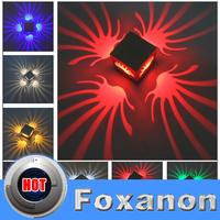 Foxanon Brand Modern Led Wall Light Aluminum 3W 90-265V 110V 220V Lamps Lighting for Bedroom KTV Background Light RoHS CE