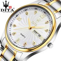 DITA Authentic watches Ultra-thin business men's watch Stainless steel waterproof quartz watch Men's watch