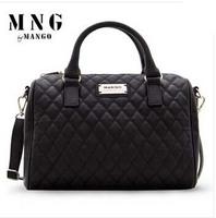 New 2014 Fashion designer handbag Mng plaid women's Shoulder Messenger handbag Mango black plaid bucket handbag dimond brand bag
