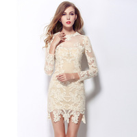 2014 news fashion lace dress women dress evening party dresses white dress