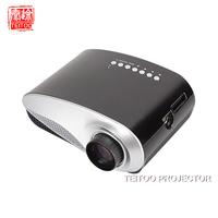 Black Newest 200lumens Tripod 3D projector LED Portable Video Pico Micro Small Mini Projector VGA TV HDMI USB AV,Free shipping