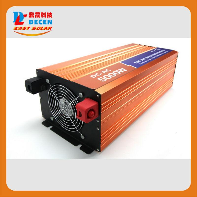 DECEN 5000W 24VDC 110V/120V/220V/230VAC 50Hz/60Hz Peak Power 10000W Off-grid Pure Sine Wave Solar Inverter or Wind Inverter(China (Mainland))