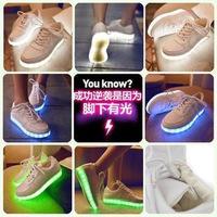 Hot Sale 2015 Usb Luminous Shoes Battery Version Led Light Shoes Women Shoes Sports Women Platform Wedge High Heels Sneakers
