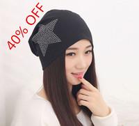 winter beanies diamond turban Pentacle cap skullies hip-hop stocking hat for women men bonnet 6 colors 6502