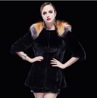Women's Genuine Real Mink Fur Coat  Real Mink Fur Coat for women Imported mink women fur coats three quarter Luxury fur