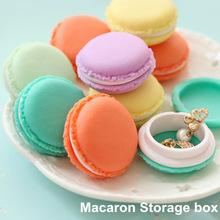 6 pièces / Lot Mini peluche Macaron boîte de rangement organisateur Candy pour les bijoux caixa organizadora ménages Zakka cadeau Nouveauté 5028(China (Mainland))