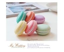 6 pcs Lot Mini teddy Macaron storage box Candy organizer for jewelry caixa organizadora zakka Gift