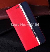 Color-blocking PU Leather Case For LG G2 G3 mini For Xiaomi 3 4 Redmi Redmi Note HTC One M7  Huawei P7 Asus Zenfone 5 Meizu MX4