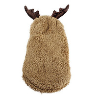 PethingTM [XmasSale]David's Deer Sherpa Hoodie Suit for Dogs (XS-XL)