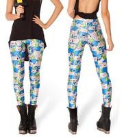 FINN LEGGINGS Fashion 2015 Women Novelty adventure time Leggings character digital print Pants