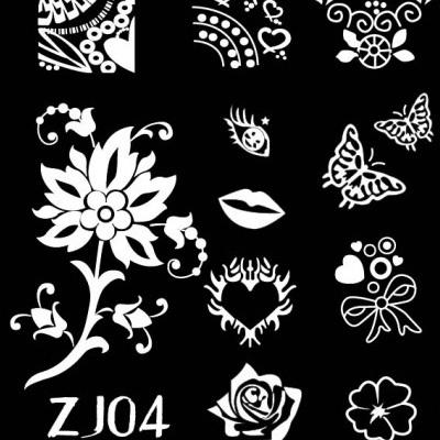 12 designs airbrush nail stencil nail stamping plates print butterfly design nail art stamping konad nail tools suppliers jh075(China (Mainland))
