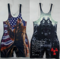 DIY Wrestling Singlet Wear Power Lifting Uniform Weightlifting cosplay suit