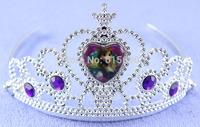 Wholesale purple rhinestone frozen crown, frozen anna tiara crown