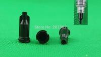Black color syringe tip cap, bag of 1000