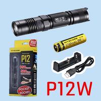 Free shipping-Original NITECORE P12W WARM WHITE flashlight 950 lumens+ rechargeable NL188 3100mah battery + XTAR MC1 USB charger