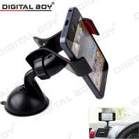 New Universal car phone holder Dvr Holder Windshield Mount Bracket Mobile Phone Holder Rotating 360 Degree suporte para celular
