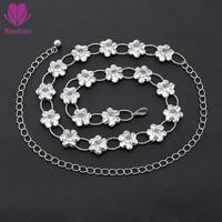 2015 New arrival waist chain belt for women,diamond+metal belt Apparel & Accessories For Women