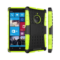 Rugged Hard TPU+PC Robot Phone Case Back Cover Stand Holder Kickstand Case For Nokia Lumia 830