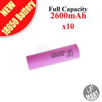 FREE SHIPPING! Original Samsung 18650 Battery ICR18650-26F 2600mAh  3.7V Li-ion Rechargeable Battery 10pcs/lot